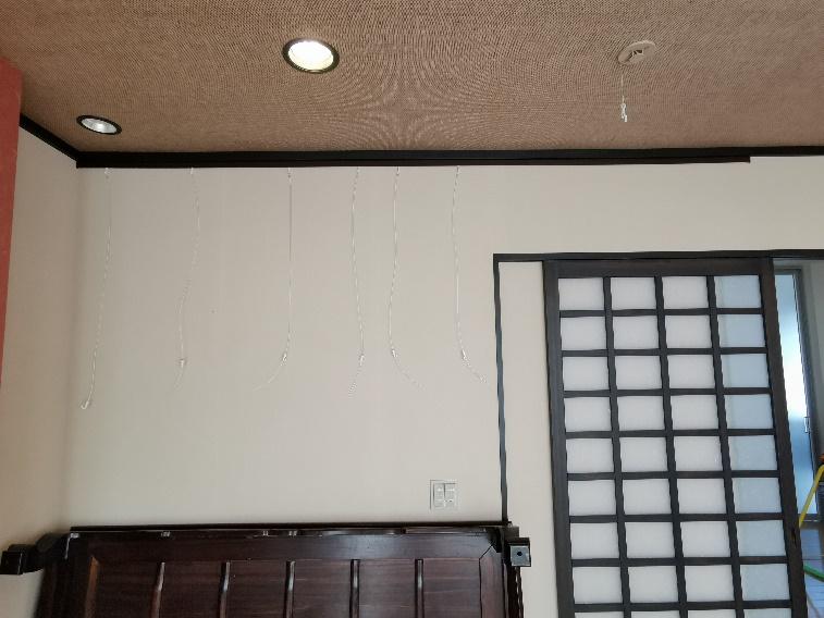 ピクチャーレール取付・家具の転倒防止